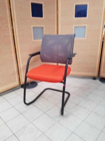 chaise pied luge sedus gris