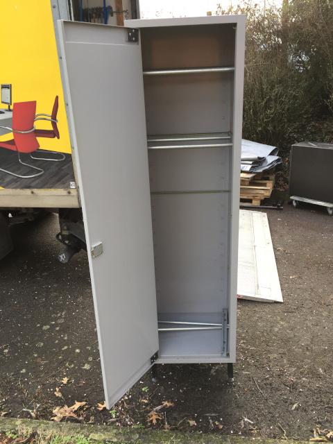 armoire 1 porte gris l50 p45