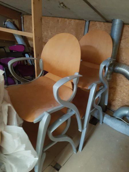 chaise 4 pieds alu