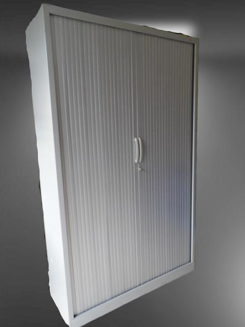 armoire haute métal gris clair L120
