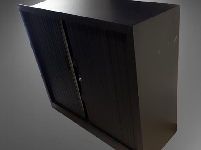 armoire basse L120 noire