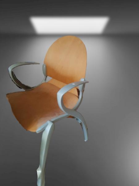 chaise 4 pieds gris clair bois