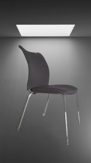 Z4.17 chaise 4 pieds chromé tissus couleur
