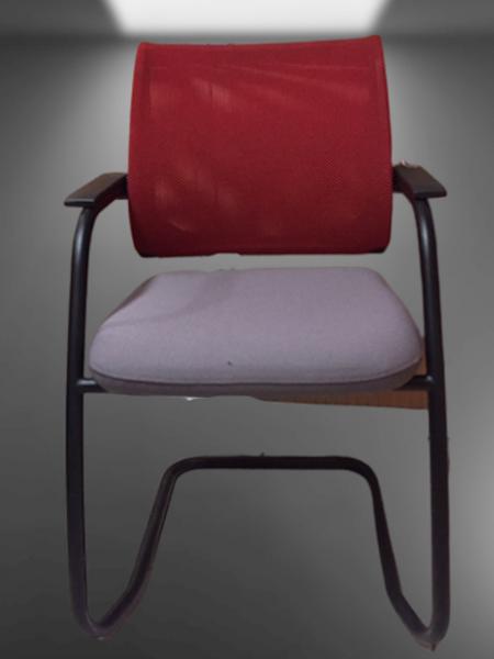 chaise pied luge dossier résille