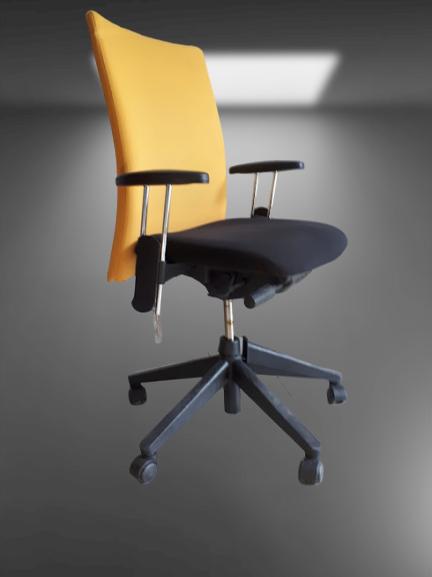 chaise a roulettes acoudoir assise noir dossier couleurs