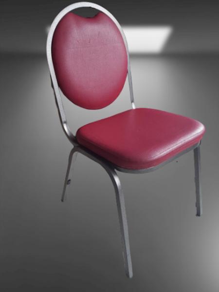 chaise 4 pieds gris chiné tissu lavable bordeaux