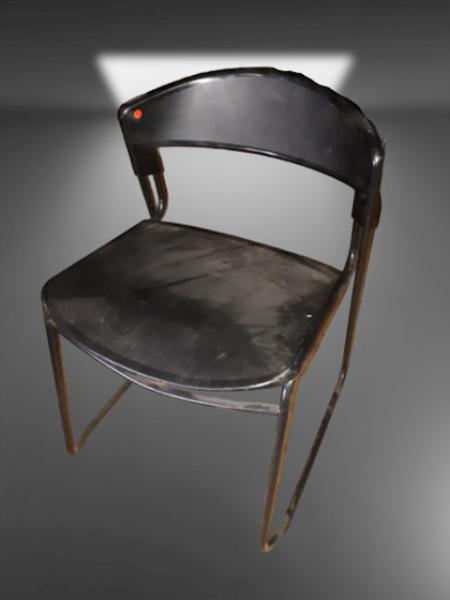 chaise polypropylène noire