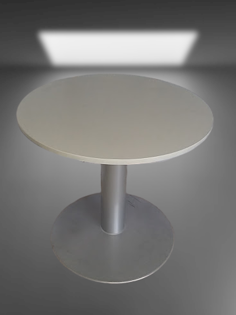 table ronde pied tulipe gris alu d80