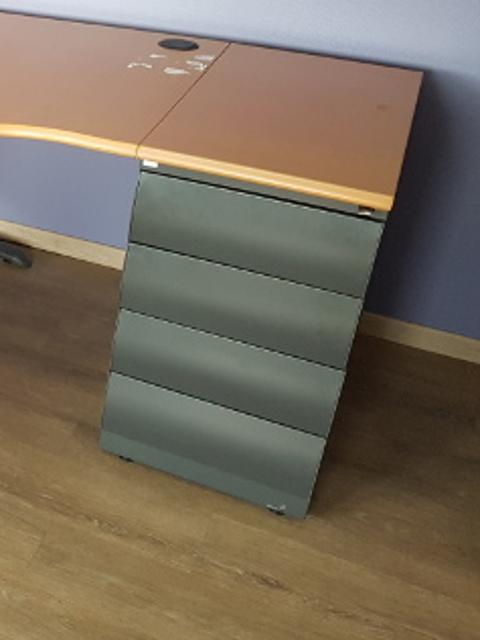 caisson HB graphite top hêtre foncé