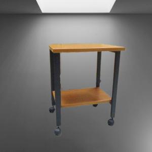 Z68.2 TABLE DESSERTE A ROULETTES L61 P40 H64 POIRIER