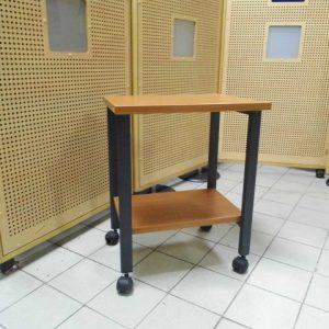 Z5.1 TABLE DESSERTE A ROULETTES L61 P40 H64 POIRIER