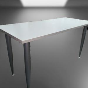 Z5.11 TABLE L140 P60 GRIS CLAIR HAWORTZ 4 PIEDS TUBE ROND GRIS