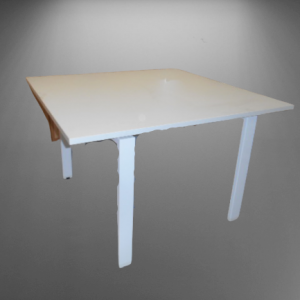 Z5.4 TABLE CARRE BLANCHE L120