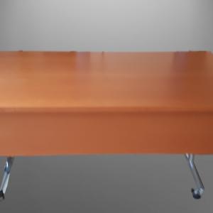 Z63.15 TABLE RABATTABLE POIRIER   L150/75  + VOILE DE FOND