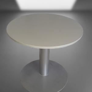 Z5.24 TABLE RONDE PIED TULIPE GRIS ALU D80