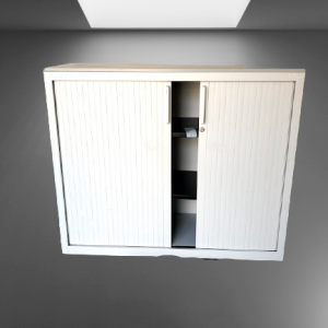 z12.12 armoire basse rideaux blanc top gris steelcase
