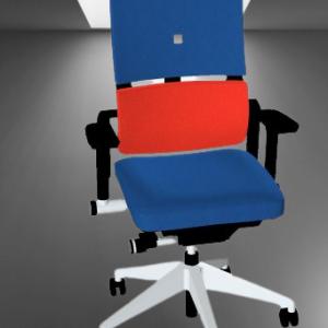 z4.59 FAUTEUIL BLEU STEELCASE PLEASE ACCOUDOIR REGLABLE 3D